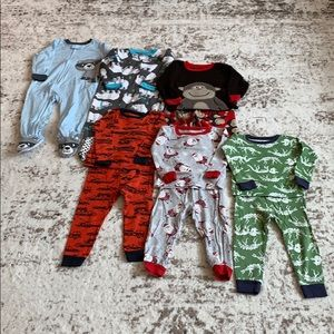 Other - BUNDLE ALERT! 6 Boys Pajamas 24 Months